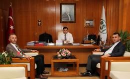 Başkan ÖZTÜRK ve Kaymakam KAYMAK DSİ Bölge Müdürü Ahmet KANIK' ı Ziyaret Ettiler