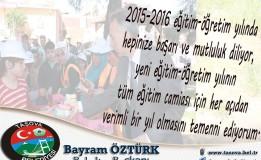 Belediye Başkanımız Sn; Bayram ÖZTÜRK yeni eğitim öğretim sezonunun başlaması dolayısıyla bir mesaj yayınladı.