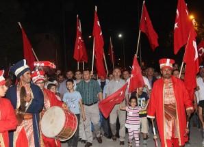 """Taşova """"Demokrasi ve Milli İradeye Sahip Çıkıyor"""""""