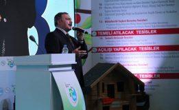 Belediye Başkanımız Bayram ÖZTÜRK, Orman ve Su İçişleri Bakanımız Prof. Dr. Veysel EROĞLU Bey'in teşrifleriyle ilimiz genelinde yapılacak olan 18 adet tesisin temel atma ve açılış törenlerine katıldı.