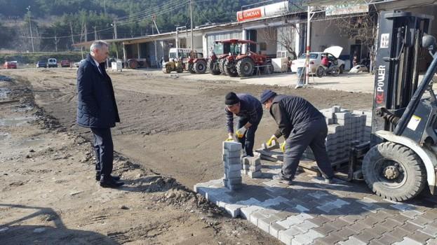 Fen İşleri Müdürlüğümüzce, Sanayi Sitesi Ara Caddelerde Yol Yapım Çalışmaları Başladı.