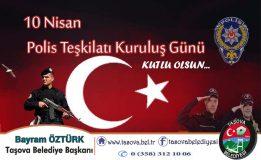Belediye Başkanımız Bayram ÖZTÜRK Polis Teşkilatının 173. Kuruluş Yılı Kutlama Mesajı.