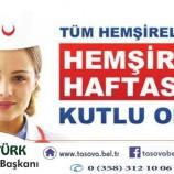 Belediye Bakanımız Bayram ÖZTÜRK' ün Hemşireler Günü Mesajı.
