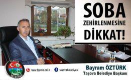 Belediye Başkanımız Bayram Öztürk, Soba Zehirlenmeleriyle İlgili Uyarılarda Bulundu.