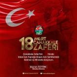 Belediye Başkanımız Bayram ÖZTÜRK, Çanakkale Zaferinin 104. Yıl dönümünde Bir Mesaj Yayımladı.