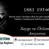 Belediye Başkanımız Bayram ÖZTÜRK' den 10 Kasım Mesajı.